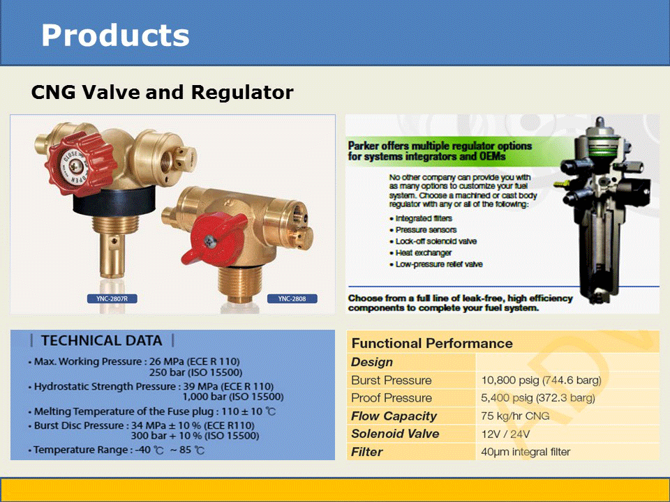 cng valve and regulator