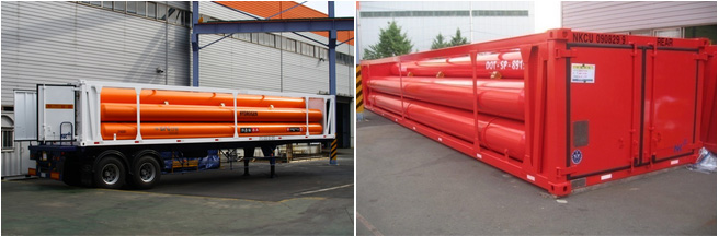 industrial gas tube trailer pic
